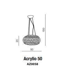 Acrylio Hängeleuchte  R7S, 1x 200W