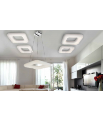Deckenleuchte Donut square top CCT 46 LED dimmbar