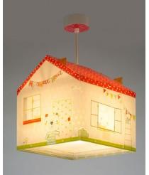 Dalber My Sweet Home Hängelampe Kinder, Plastik, E27, 1 W, Mehrfarbig, 24 x 24 x 25.5 cm