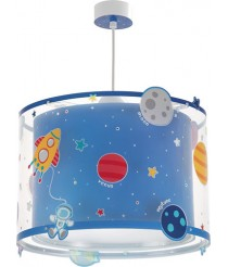 Dalber 41342 Planeten Hängelampe, Plastik, blau, 33 x 33 x 25 cm [Energieklasse A]