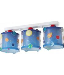 Dalber 41343 Planeten Deckenlampe, 3-Flammige, Plastik, blau, 51 x 15 x 20.5 cm [Energieklasse A]