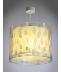 Dalber 41432 A++ to C, Colour Rain Hängelampe, Plastik, E27, Multicolor, 33 x 33 x 25 cm