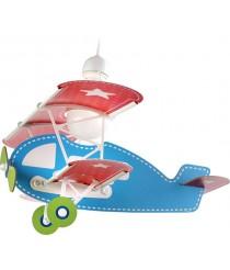 Dalber 54002 Baby Plane Flugzeugform -Hängenleuchte, Plastik, blau, 49 x 64 x 39 cm