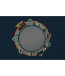 Dalber 60616 Police Decken/Wandlampe, Metall, 44 x 44 x 8 cm,blau [Energieklasse A]