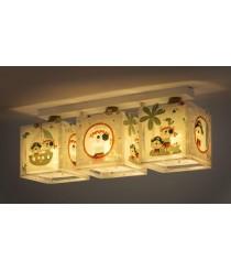 LED Lampe Kinderzimmer Decke Deckenleuchte Pirat 74553 warmweiß 1050lm Jungen