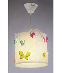 Dalber 62142 Farbige Schmetterlingen Hängeleuchte [Energieklasse A]