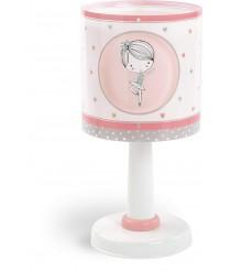 Dalber Sweet Dance Kinder Tischlampe, Plastik, E14, 1 W, Rose, 15 x 15 x 30 cm