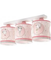 Dalber Sweet Dance Deckenlampe 3-Leuchten, Plastik, E27, 1 W, Mehrfarbig, 51 x 15 x 20.5 cm