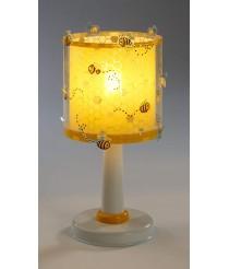 Dalber Bee Happy Biene Tischlampe, Plastik, E27, 1 W, Mehrfarbig, 15 x 15 x 30 cm