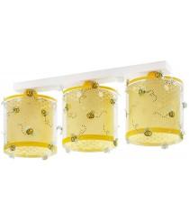 Dalber Bee Happy Deckenlampe 3-Leuchten, Plastik, E27, 1 W, Mehrfarbig, 51 x 15 x 20.5 cm