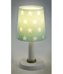 Dalber Stars Tischlampe, Plastik, E14, Grün Mint, 15 x 15 x 30 cm