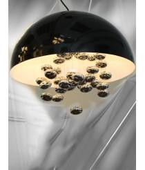 Extravagant Esszimmerlampe Pendelleuchte 8-flammig in schwarz chrom Ø: 60cm