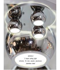 LED Spotleuchte modern Jolie 3-flammig runde Deckenleuchte in chrom Ø: 40cm
