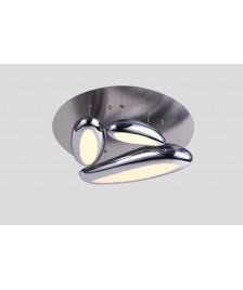 Futuristische LED Deckenleuchte Carisma 3-flammig chrom höhenverstellbar Ø: 50cm