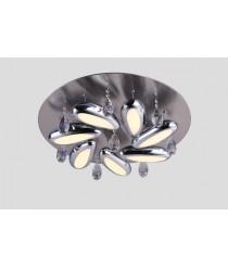 LED Deckenleuchte Carisma 5-flammig  rund mit Kristallen höhenverstellbar Ø: 60cm